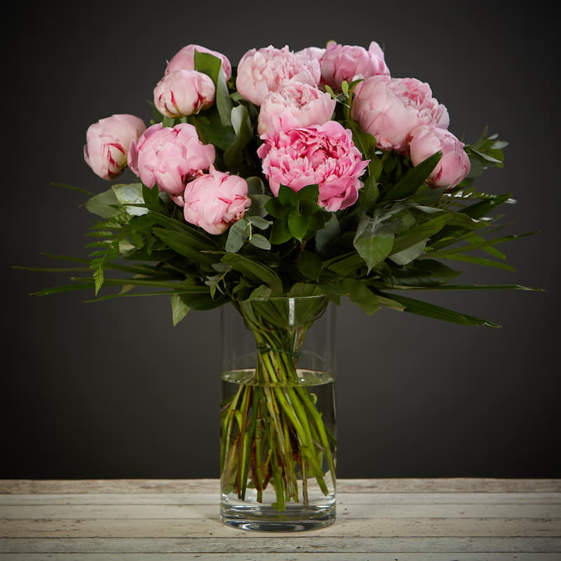 Pure Peonies Flowers Delivered - <p>For the next few weeks, we are able to offer this magnificent, seasonal treat. A bouquet made up purely of gorgeous peonies set against lush summer foliage. Only available for a short time, we highly recommend these beauties!</p>