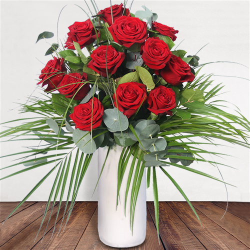 Bloom Magic - Flower Delivery United Kingdom - What's more special than receiving the classic gift of one dozen luxurious roses? Long stemmed Grade A roses, expertly hand-tied and gift wrapped are sure to make your special someone feel amazing.
