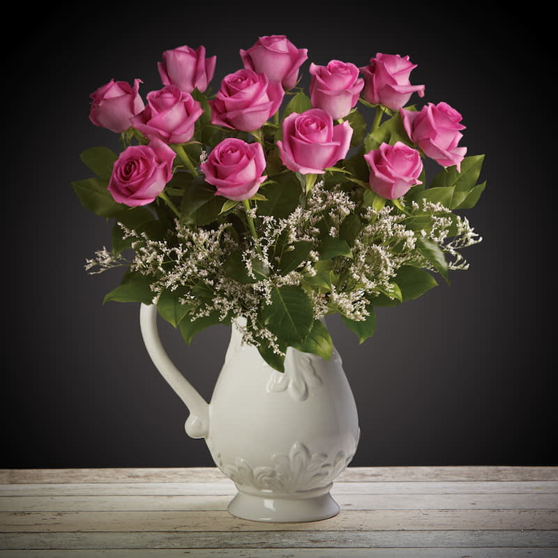 Pretty In Pink Flowers Delivered - What's more special than receiving the classic gift of one dozen luxurious roses? Long stemmed Grade A roses, expertly hand-tied and giftwrapped are sure to make your special someone feel amazing. Choose from ½ dozen, 1 or 2 dozen in different colours.