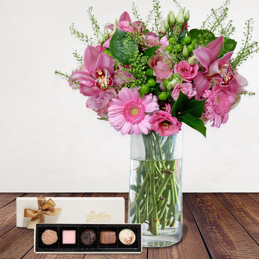 Bloom Magic - La Vie Est Belle - Vase & Chocolate Bundle